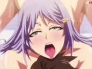 Purple hair hentai